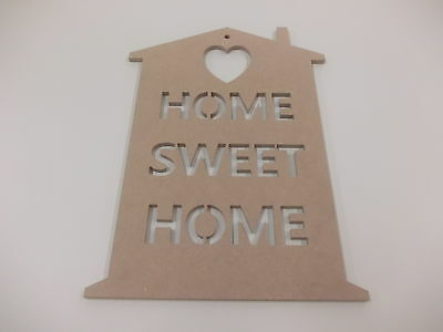 Home Sweet Home Wall Plaque  A3 Light Grey Home Decoration House Warming Gift