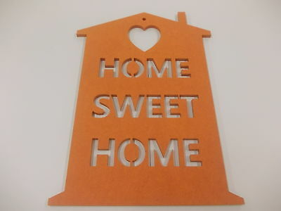Home Sweet Home Wall Plaque  A3 Orange Home Decoration House Warming Gift