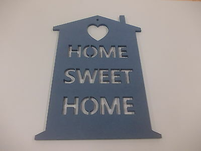 Home Sweet Home Wall Plaque  A3 Blue Home Decoration House Warming Gift