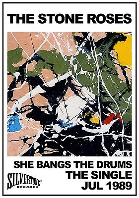 THE STONE ROSES She Bangs The Drums - The Single PHOTO Print POSTER Shirt CD 036