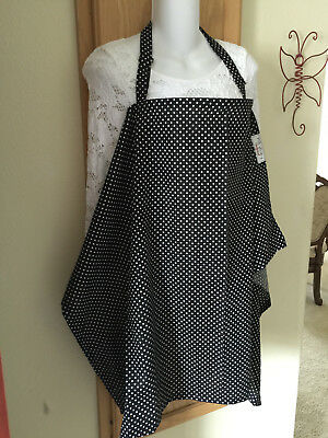 breastfeeding cover up nursing cover privacy apron  hider breathable  DOTS b/w