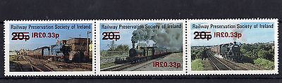 Railway Letter Stamps Preservation Society of Ireland 1981 O/P in Irish Currency