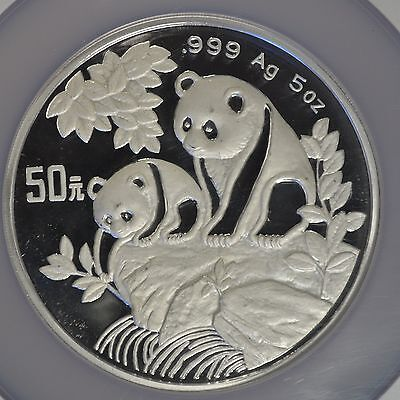 1992 China Silver Panda 5 oz S50Y NGC PF 68 Ultra Cameo