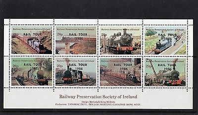 Railway Letter Stamps Preservation Society of Ireland 1986 Rail Tour