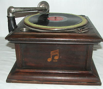 Vintage Columbia Table Top Graphophone Wind Up Phonograph Record Player