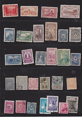 Joblot of about 65 Turkish Stamps   Good early issues  2 scans
