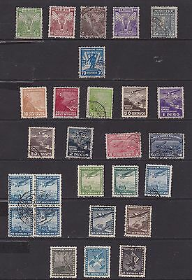 small collection of 1930 Chile stamps, 3 part sets