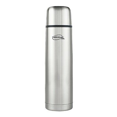 Genuine Thermos 1L Stainless Steel Flask Hot Cold Milk Coffee Tea Camping Travel