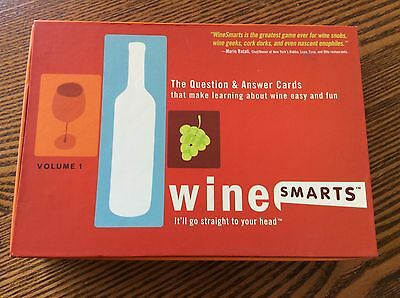 Wine Smarts The Questions and Answer Cards Game