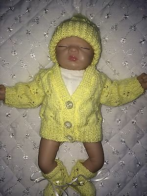 "Handmade Clothes Set Made To Fit Ashton Drake 10"" Reborn Ooak Unisex Doll Sculpt"