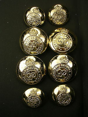 Vintage R A S C Royal Army Service Corps Button Collection Kings Crown.