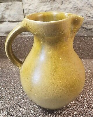 Daniel Johnston Pottery Vase with handle, Seagrove North Carolina