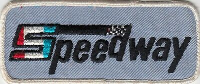 1970's   SPEEDWAY   CLOTH  PATCH   BADGE