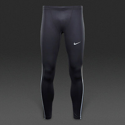 Black Nike Reflective Silver Tech Men's Running Tights Size Xl-Nwt