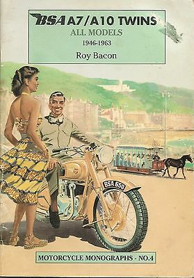 BSA A7/A10 Twins, All Models 1946-1963 (Motorcycle Mono No4. Roy Bacon Paperback