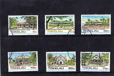 Tokelau Islands - 1985 F/used Architecture Set One.