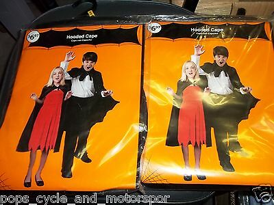 Hooded Cape X 2 Misc Lot Halloween Costume Party Holiday Seasonal New