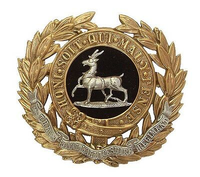 Victorian The Warwickshire Regiment Slouch Badge Officers