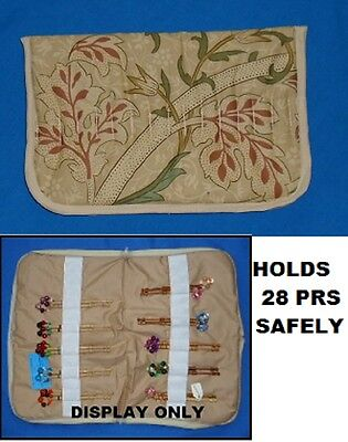 No. 4.  Small Padded Zip Bobbin Bag Holds 28 Prs Bobbins  Safely & Securely
