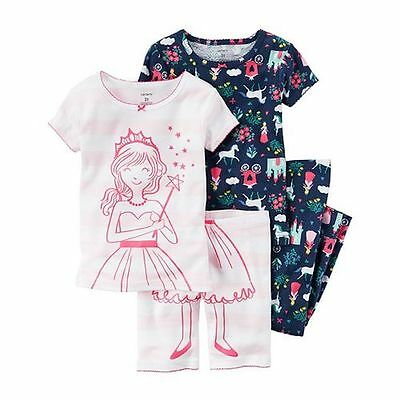 NEW Carter's 4 Piece Princess Horse Castle Cotton PJs NWT 2 3T 4T 5T 6 7 12 Girl