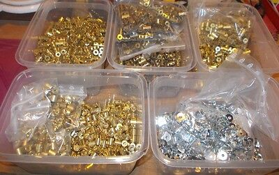 meccano large lot brass couplings and hinges (63, 63d, 64, 64a, 114)  1x00+4x50