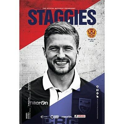 Ross County v Motherwell matchday programme 10th Sept 2016