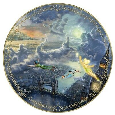Tinker Bell Peter Pan Fly to Neverland Disney Thomas Kinkade Plate