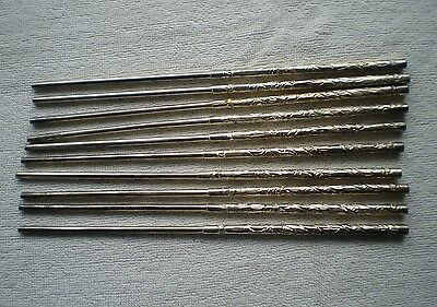 10 Chop Sticks - Silver or Silver Dipped