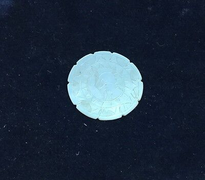 Vintage Round Mother Of Pearl Gaming Chip