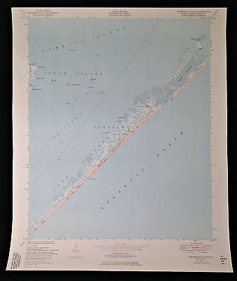 "USGS 1949/1971 MAP OBX PAMLICO SOUND, PORTSMOUTH, WAINWRIGHT ISLAND, N.C. 22""x27"