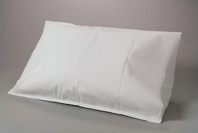 """Disposable Tissue/Poly Pillowcases 22"""" x 30"""" White (Package of 95)"""