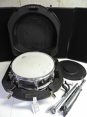"Ludwig Rockers Remo Weather King 14"" Snare Drum Case Stand Practice Pad"