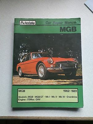MGB car repair manual