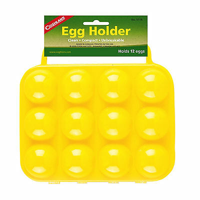 Coghlan's Egg Holder Yellow 12-Egg Hard-Plastic Carrier w/Molded Handles Compact
