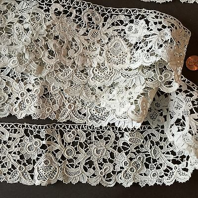 19th C. Victorian Point Colbert needle lace DECOR COLLECT