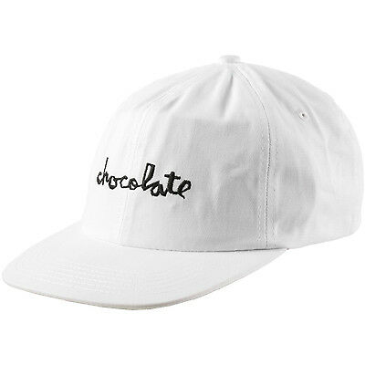 "New CHOCOLATE Skateboards ""Chunk"" Unstructured 6-Panel Strapback Hat (White)"