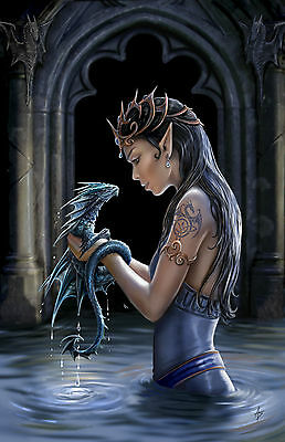 Water Dragons Greeting Card - Anne Stokes