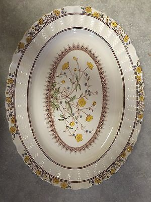 spode buttercup Large Oval Serving Platter.14 3/4 By 11 1/4. Never Used