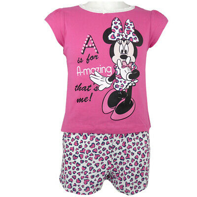 Disney Minnie Maus - Schlafanzug - Shorty Pyjama - Pink - Gr.: 98 - 128