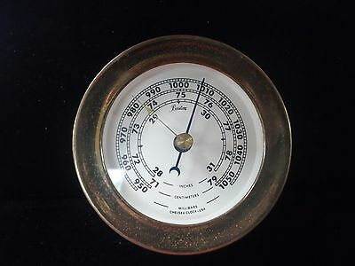 Boston Made By Chelsea Clock Usa  Barometer Brass
