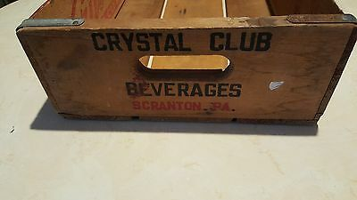Wooden Crate Crystal Club Beverages  Scranton PA
