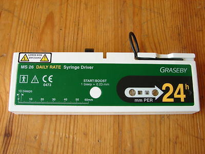 Graseby MS26 Syringe Driver - 24 hours settings infusion pump