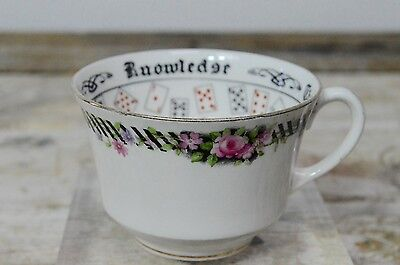 RARE Aynsley Fortune Telling The Cup of Knowledge Vintage