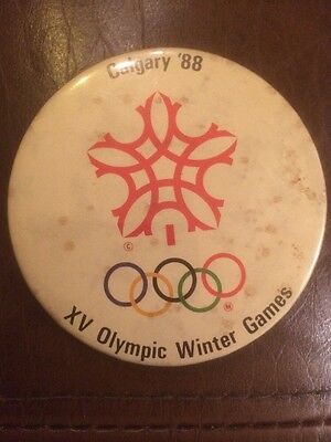 Official Calgary 1988 Winter Olympics Badge