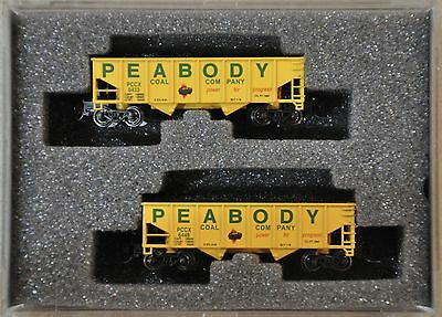 Z Scale 1:220 Peabody  2-Bay 33' Offset Hoppers 2-Pack Wdw Ft 2013 Set #3
