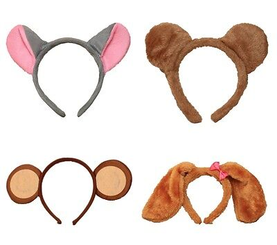 Soft Animal Ears Alice Hair Band Headband Fancy Dress Party Hen Mouse Monkey Dog