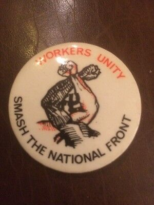 1980s Smash The National Front Badge