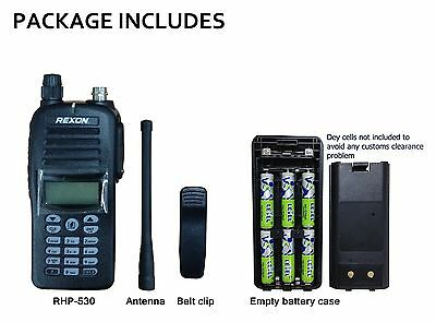 Rexon VHF Air Band Handheld Radio/ Transceiver RHP-530Lite with battery case