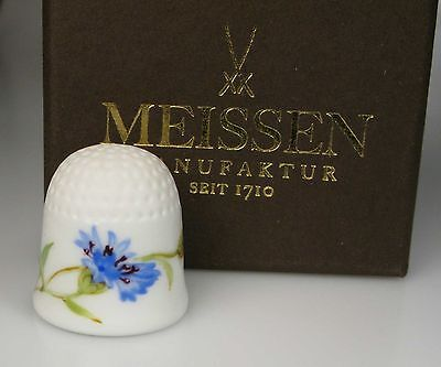 thimble porcelain cornflower flower Meissen handpainted Germany new