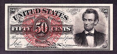 US 50c Lincoln Fractional Currency Note FR 1374 XF